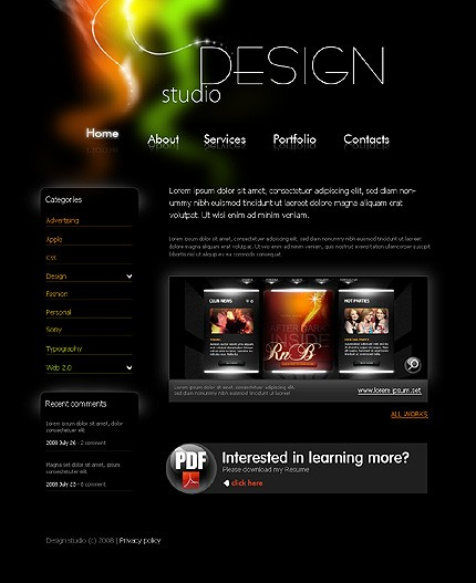Site Design Templates. website templates free download open ...